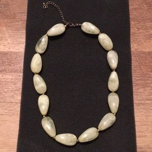 Light Green Light Beaded Necklace
